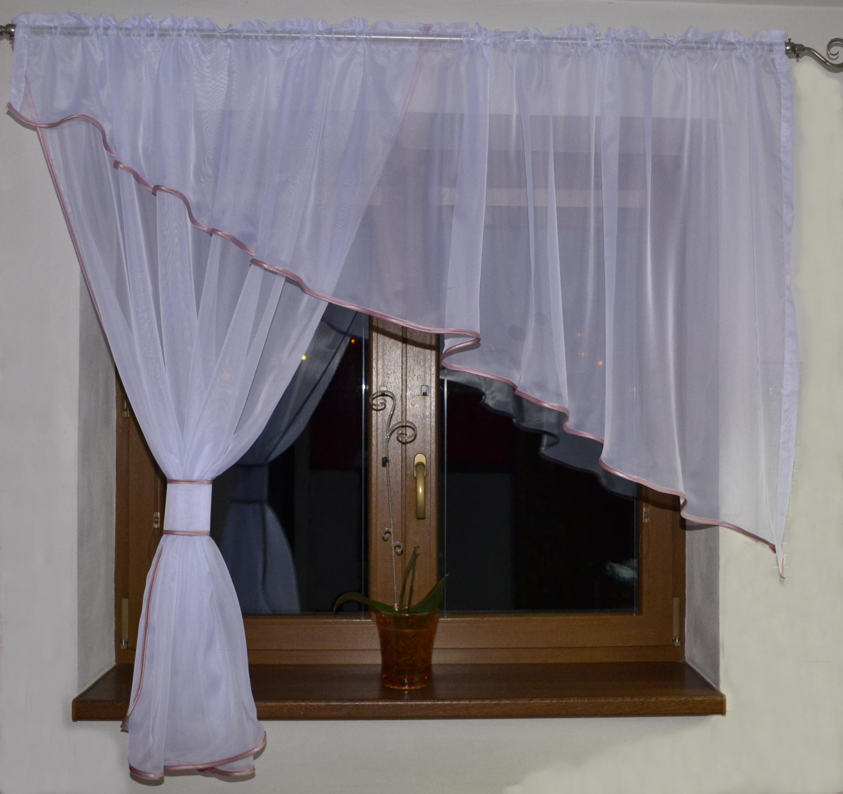 Voálová Záclona Adéla růžová 300x150cm levá