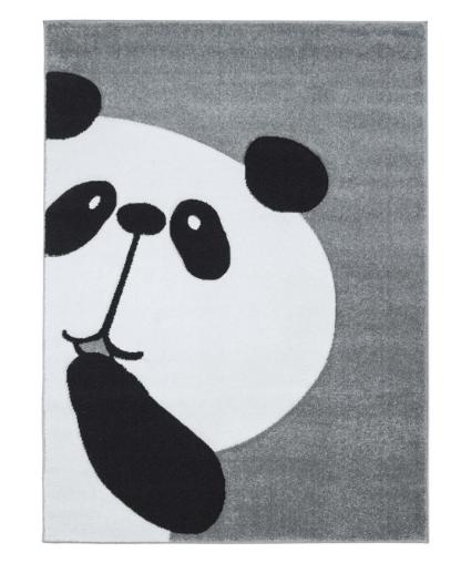 Dětský kusový koberec panda šedý různé velikosti Rozměr: 140x200cm