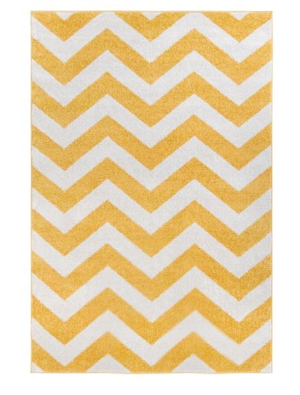 Kusový koberec žlutý zig zag Rozměr: 160x220cm