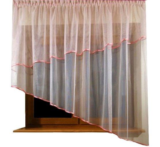 Voálová Záclona Patrície růžová 300x150cm
