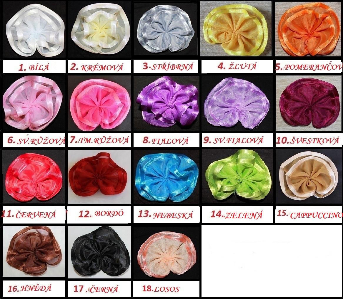 Voálová Záclona Kamila s ozdobnými lístky 400x150cm různé barvy Barva: Tmavě růžová