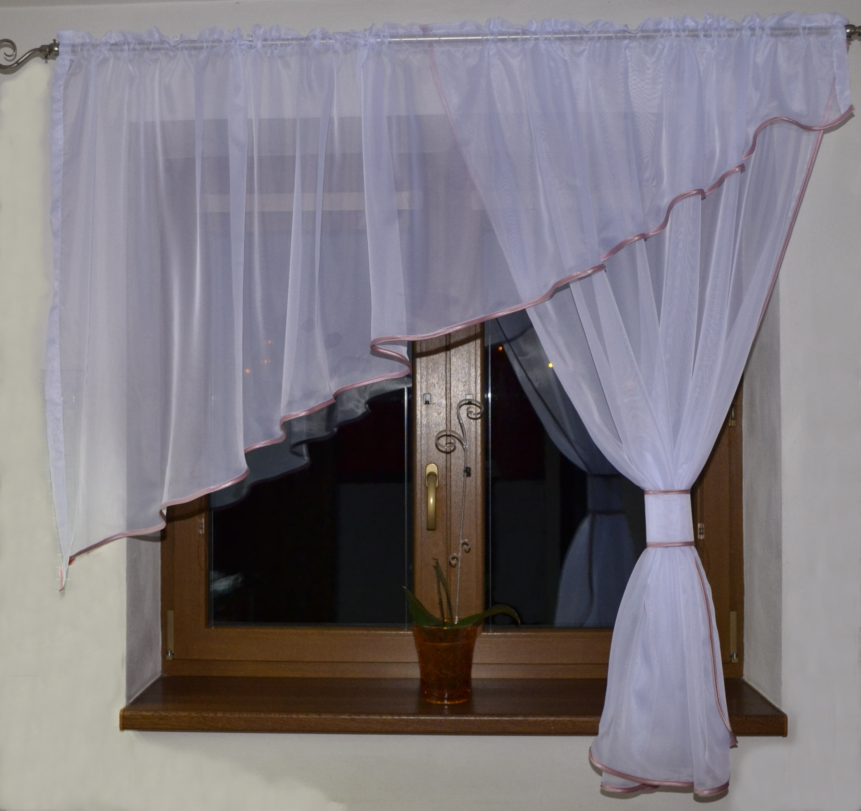 Voálová Záclona Adéla růžová 300x150cm pravá