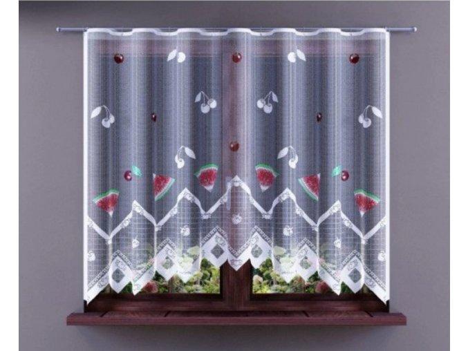 Hotová žakárová záclona melóny 250x150cm biela