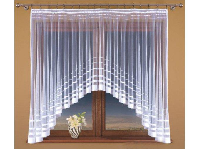 Hotová žakárová záclona Irena biela rôzne rozmery