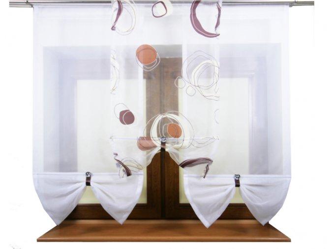 Hotová voálová panelová záclona Rosemary panely 50cm různé barvy (Rozměr 2x (50x120cm) + 50x110cm červená)