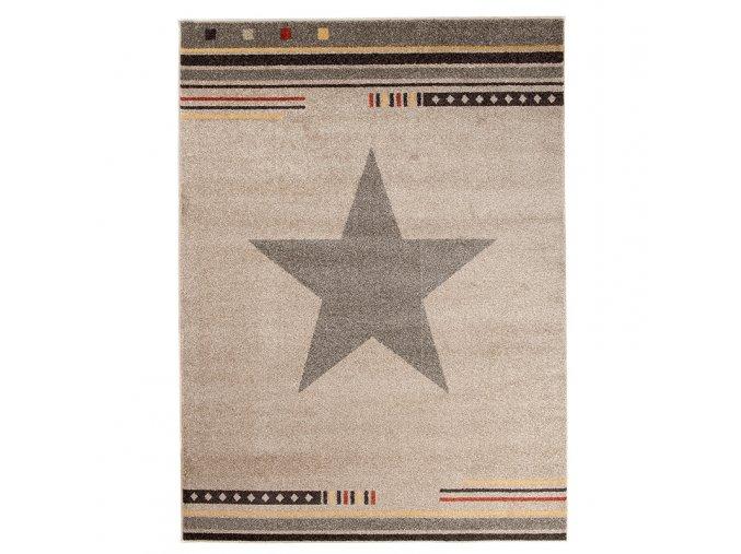 Koberec kusový hvězda světle hnědý (Rozměr 80x150cm)