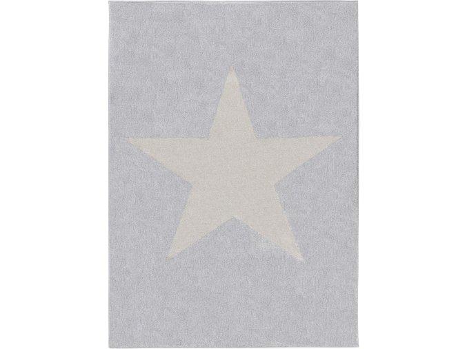 Koberec kusový hvězda šedá v různé velikosti (Rozměr 80x150cm)