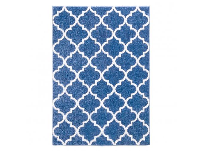 Koberec kusový marocký jetel nebesky modrý různé rozměry (Rozměr 200x290cm)