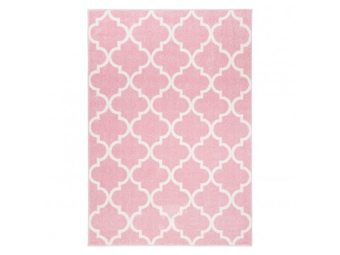 Koberec kusový marocký jetel pastelově růžový různé rozměry (Rozměr 200x290cm)