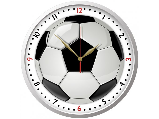 PIŁKA BIEDRONKA drewniany zegar ścienny dla dzieci
