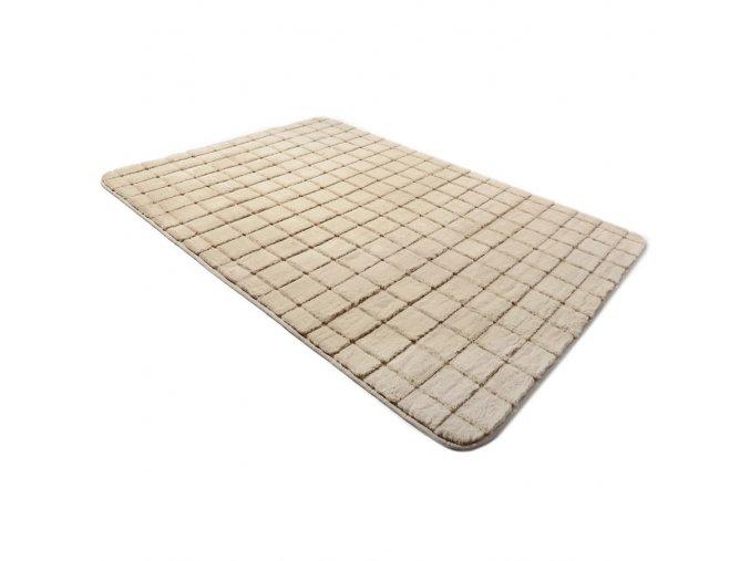 Plyšový kusový koberec 3D cappucino Brick Black (Rozměr 160x230cm)