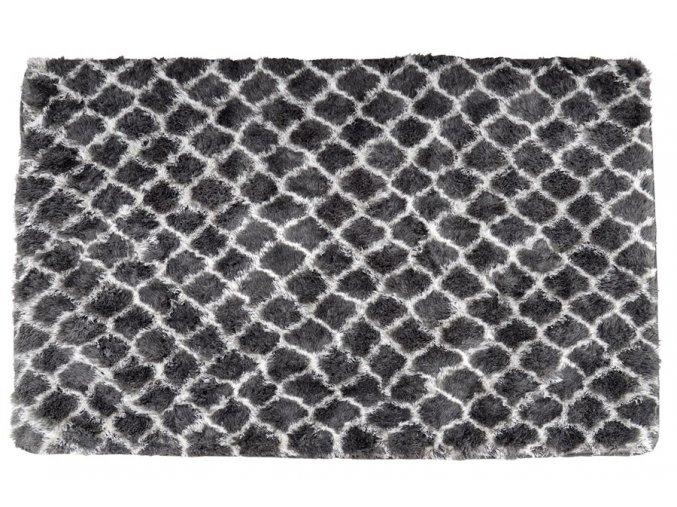 Plyšový kusový koberec 3D Clover šedý (Rozměr 160x230cm)