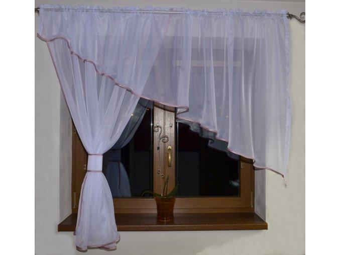 472 voalova zaclona adela ruzova 300x150cm leva
