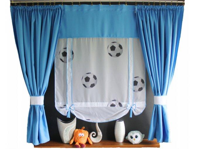 Detská hotová záclona motív Futbal 150x150cm