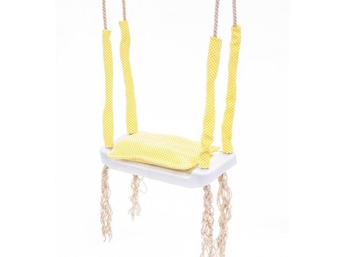 Plastová hojdačka lavička od 3 rokov žltá 43x17x7cm