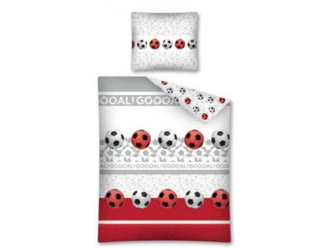 Bavlnené obliečky futbalové lopty futbal 140x200cm / 70x80cm biele