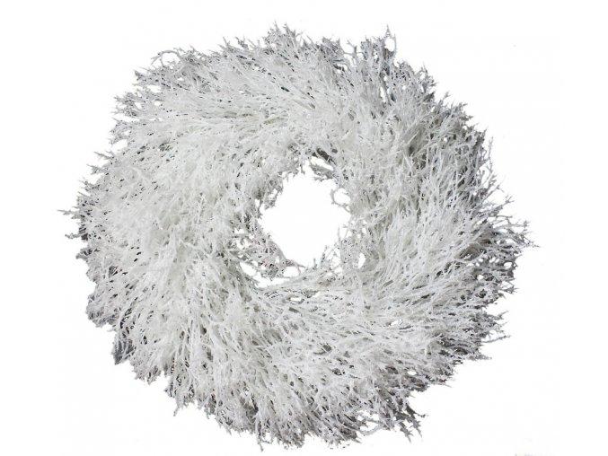 wianek poztrzepiony biały