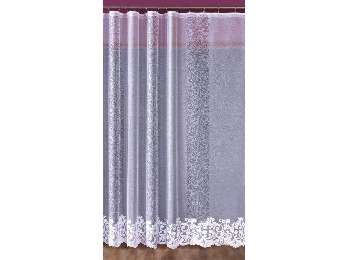 Netradičné žakárová záclona biela 2 rozmery