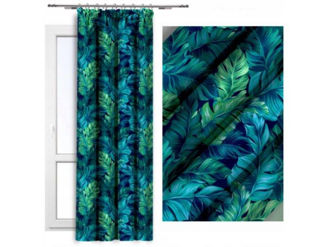 2 verze modro zelené listy