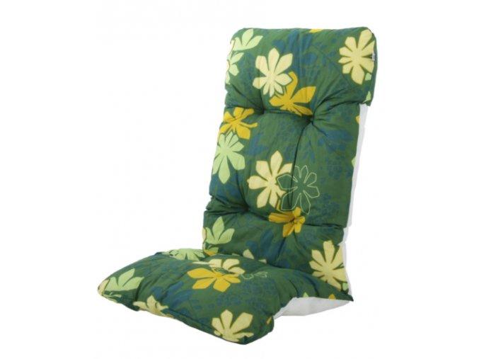 2. 118x48cm zelený s květinami