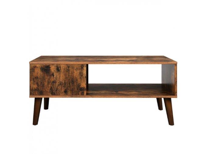 Retro konferenčný stolík 100x50x45 cm hnedý