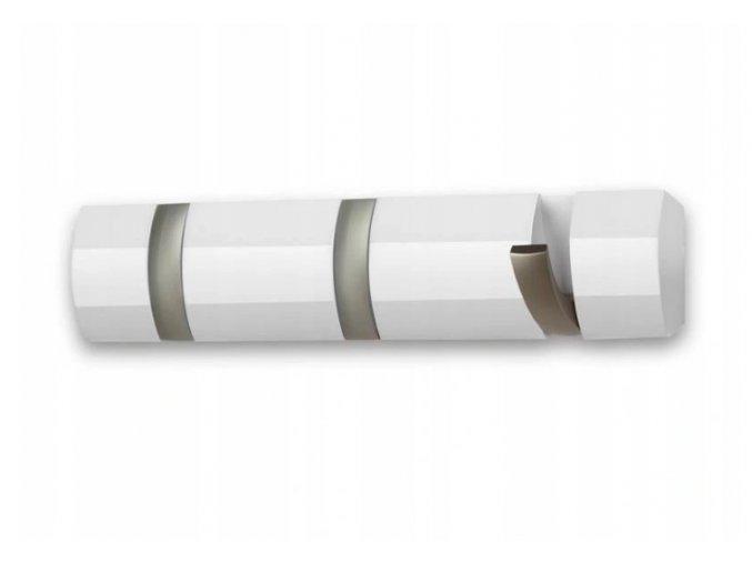 Drevený nástenný vešiak 33x8cm biely
