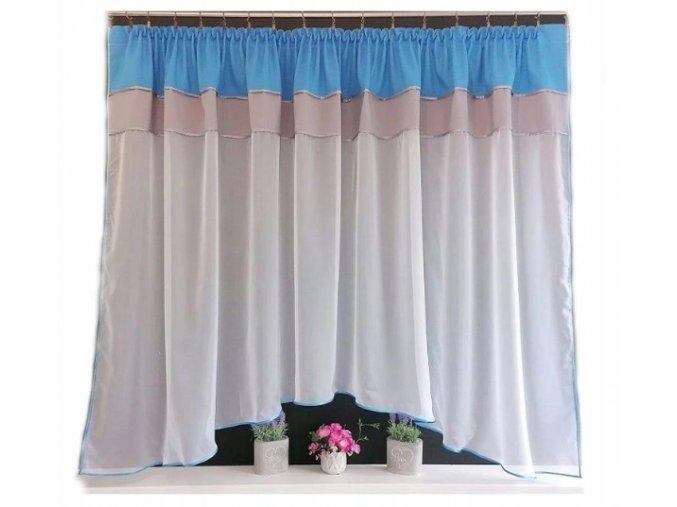 Záclona Laura 300x150cm šedo modrá
