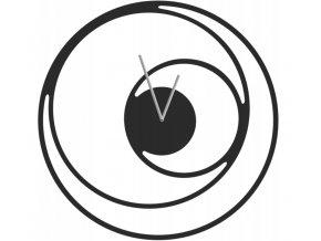 Nástěnné kovové hodiny spirála 50cm černé (1)