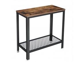 Boční stolek 60x30x60cm rustikální hnědá