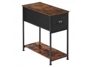 Odkládací stolek 30x60x63cm rustikální hnědý (1)
