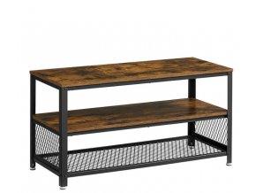 Televizní stolek s policemi 100x40x51.5cm rustikální hnědý (1)
