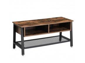 Televizní stolek s úložným prostorem 100x40x50cm rustikální hnědá (1)