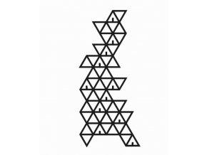 Kovový vešiak do predsiene trojuholníky 60x38cm čierny