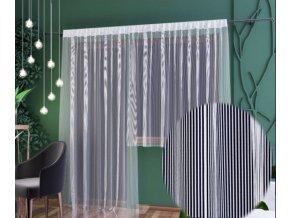 Balkónová hotová záclona žakárová Alex biela rôzne rozmery