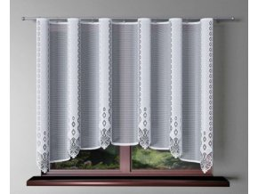 Hotová žakárová záclona Hedviga 300x150cm biela