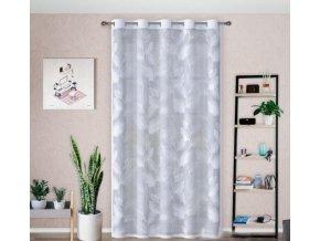 Hotová žakárová záclona lístky 140x250cm biela
