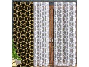 Hotová žakárová záclona hviezdy 140x250cm biela