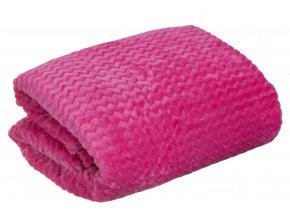 Měkoučká deka z mikrovlákna 150x200cm Zig zag (Barva růžová, Rozměr 150x200cm)