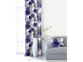 4893 metrazovy zaves fialovo sede bubliny sirka 150cm