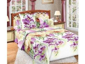Bavlněné povlečení orchidej (Rozměr 220x200cm+2x70x90cm)