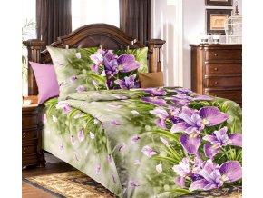 Bavlněné povlečení orchidejová louka (Rozměr 220x200cm+2x70x90cm)