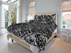 Bavlněné povlečení ornamenty v černé (Rozměr 220x200cm+2x70x90cm)