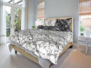 Bavlněné povlečení ornamenty v černobílé (Rozměr 220x200cm+2x70x90cm)