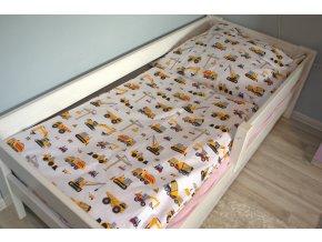 Bavlnené obliečky žlté bagre 140x200cm / 70x80cm biele