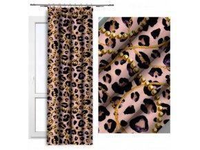 růžový s leopardím vzorem a perličkami