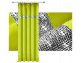 Hotový záves na rašiace páske 140x250cm sa zirkónmi rôzne farby