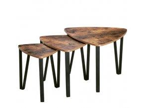 Rustikálny set troch konferenčných stolíkov rôzne rozmery