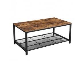 Vintage konferenčný stolík 106x60x45 cm rustikálna hnedá