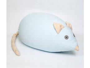 Taburet pro děti myška světle modrá