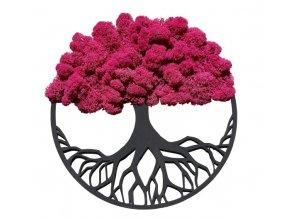 Obraz strom s mechem fuchsiový 30cm různé barvy (3)